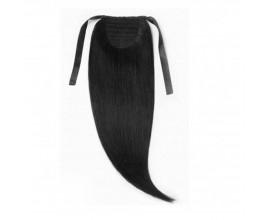 Extension queue de cheval Brun foncé cheveux naturels
