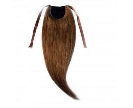 Extension queue de cheval Châtain foncé cheveux naturels