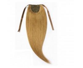 Extension queue de cheval Châtain clair cheveux naturels