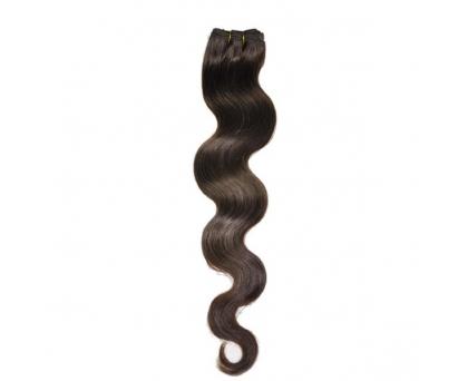Extensions à clips cheveux ondulés Chocolat