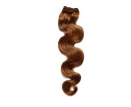 Extensions à clips cheveux ondulés Châtain Clair