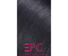 Extensions à clips cheveux ondulés Brun Foncé