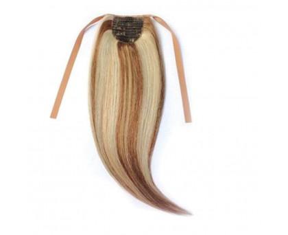Extension queue de cheval Châtain Mèche Platine cheveux naturels