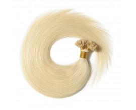 Extensions kératine Blond Platine