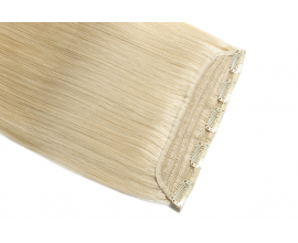 Extension monobande cheveux naturels Blond Platine