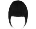 Frange à clip cheveux naturels Noir