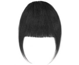 Frange à clip cheveux naturels Brun Foncé