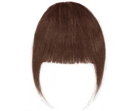 Frange à clip cheveux naturels Chocolat