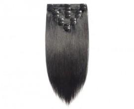 Extension à clips cheveux naturels Double Drawn