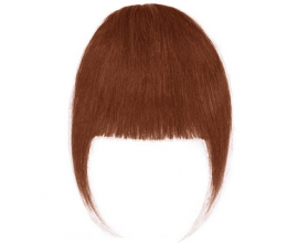 Frange à clip cheveux naturels Châtain Châtaigne