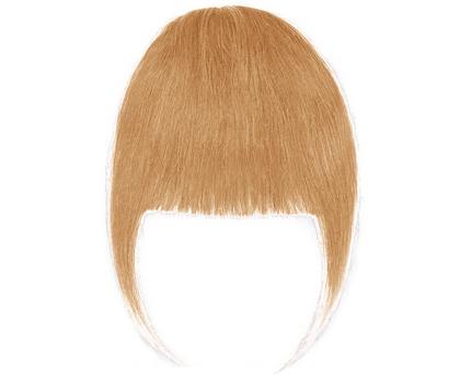 Frange à clip cheveux naturels Blond Grise