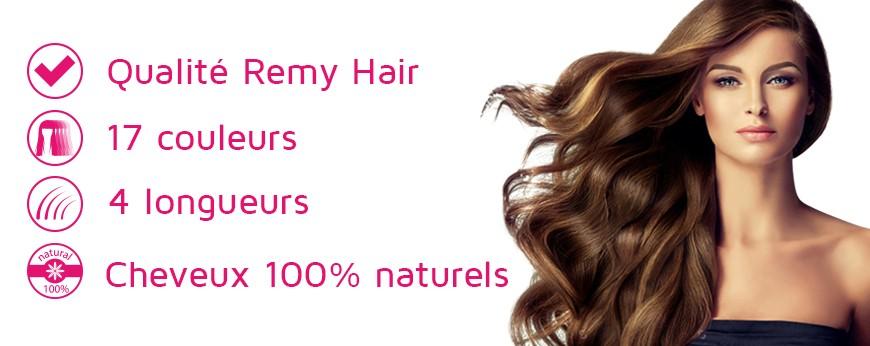 Extension à clip cheveux 100% naturels